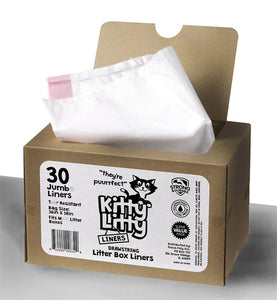 30 Jumbo Liners for Cat Litter by Kitty Litty
