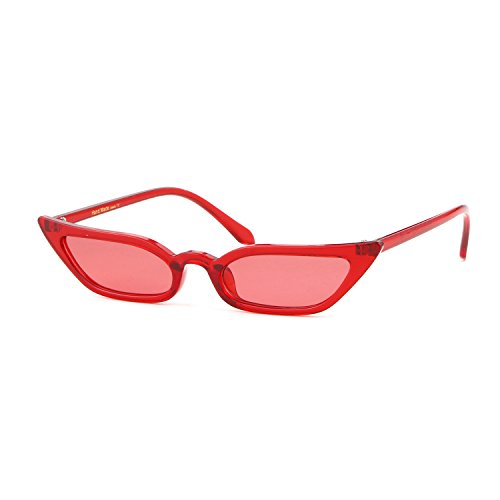 Red Cat Eye Sunglasses for Women, Photochromatic Lens