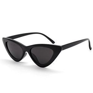 Black Grey Narrow Cat Eye Sunglasses by Livhò, Unbreakable PC frame