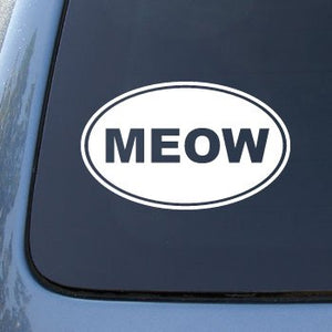 "MEOW Vinyl Car Decal Sticker, 5.5"" X 3.5"""