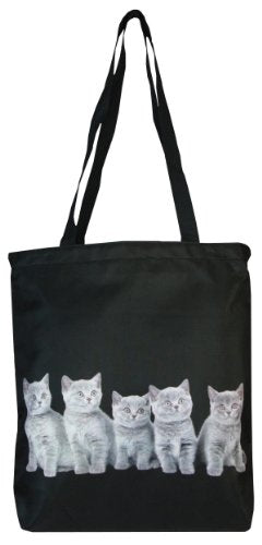 Charming Grey Cats on Both Sides Tote Bag
