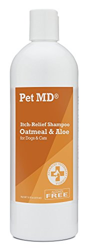Itch Relief Shampoo Aleo & Oatmeal for Cats & Dogs by Pet MD, Alcohol Free