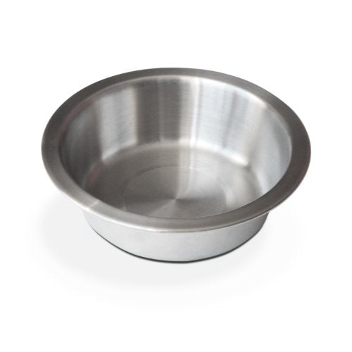 Brushed Stainless Steel Bowl by PetFusion for Pets