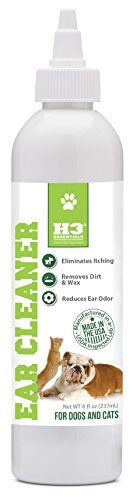 H3 Ear Cleaner For Dogs and Cats, reduces Ear Odor