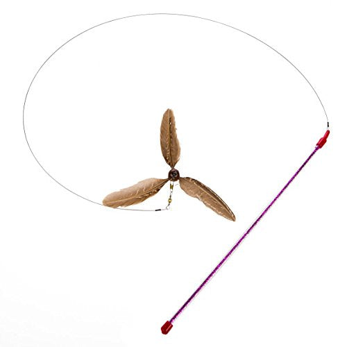 Pheasant Feathers Teaser Cat Toy