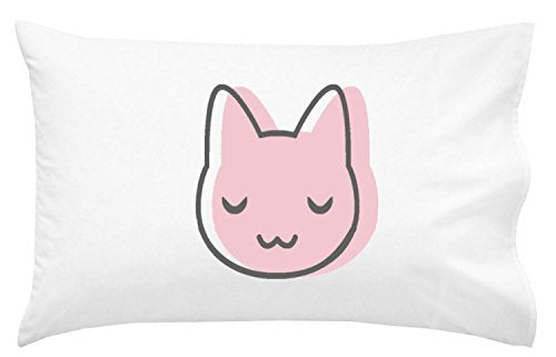Pink Cat Pillowcase, Silky Soft Microfiber