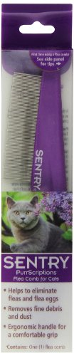 Flea Comb for Cats by SENTRY, Ergonomic Handle