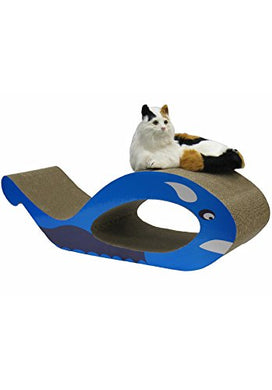 Whale Shape Cat Scratching Cardboard