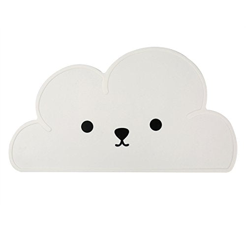 Pet Feeding Mat Silicone Cute Cloud Pattern With Smile Placemat
