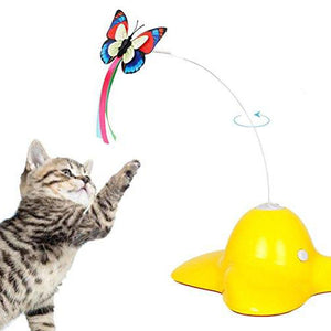 360 Degree Spinning Butterfly Cat Toy  Edit alt text