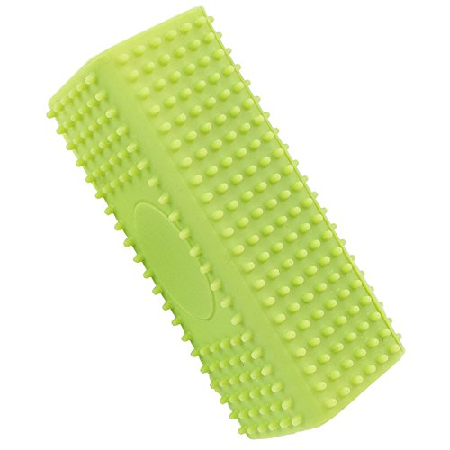 Soft Silicone Rubber Curry Comb for Cats & Dogs, 4.7inch X 1.77inch X 1.77inch