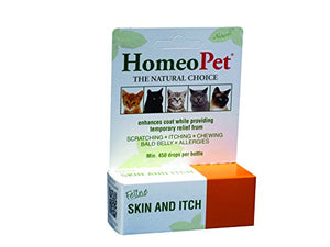 Feline Skin and Itch by HomeoPet, 450 Drops per Bottle