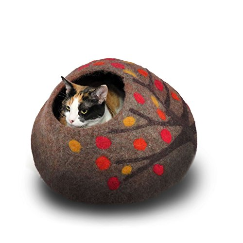 Organic Wool Cat Cave and Bed