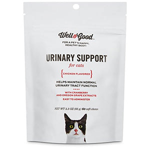 Well & Good Urinary Support Cat Chews, Chicken Flavored