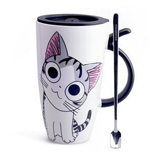 Cute Cat Style Ceramic Mugs by Neolith
