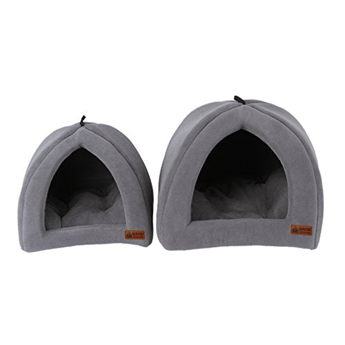 Grey Soft Polar Pet Bed House