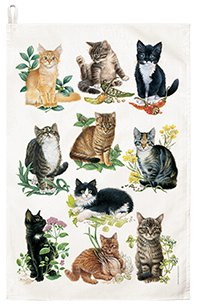 Lovely Kittens Dish Towel, Extra Large