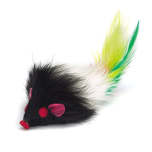 Colorful Furry Mice with Felt Details