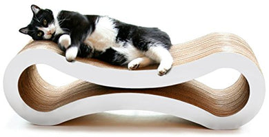 White Cat Scratcher Lounge