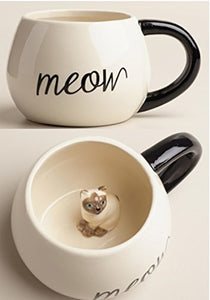 Surprise Cat Coffee Mug with Baby Cat Inside