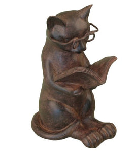 Stylish Decorative Resin Cat Reading Figurine by Young's