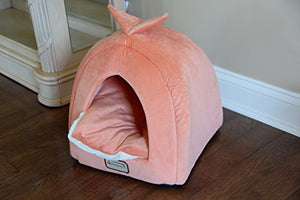 Ivory Cat Bed, Orange and Waterproof