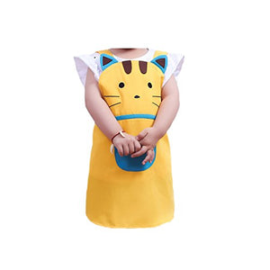Cartoon Cat Apron, Fits 2 to 4 Years Old Kids.