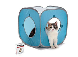Washable Eco Friendly Cat Cube Toy
