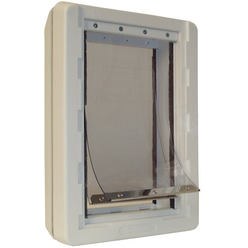 Ruff-Weather Cat Door with Telescoping Frame
