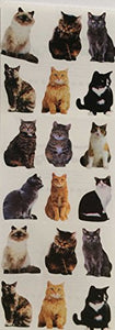 6 Sheets of Small Cats Stickers