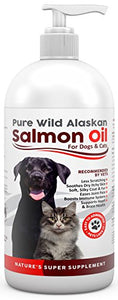 Salmon Oil for Dogs & Cats by Pure Wild Alaskan, 16oz