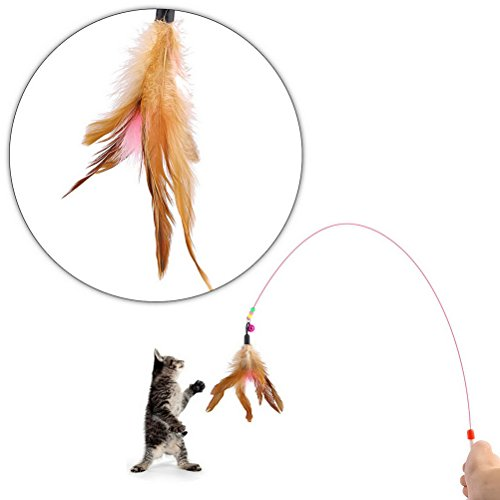 Cat Feather Wand Teaser With Bell