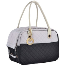 MG Collection Stylish Quilted Travel Dog and Cat Carrier