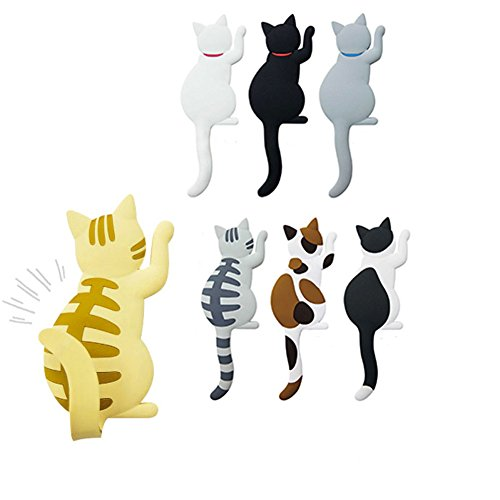 Set of 7 Cat Refrigerator Magnetics, 2.04