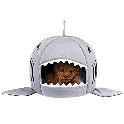 Self-Warming Shark Bed for Cats