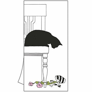 "Featuring Black Cat Vase Design Design Kitchen Towel, 18"" X 26"""