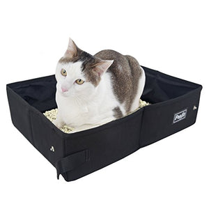 Fabric Portable Travel Cat Litter Pan by Petsfit, Quick To Store