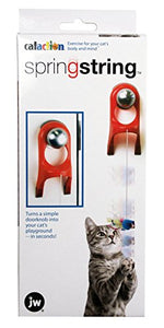 Spring String Cat Toy Attaches to Any Doorknob