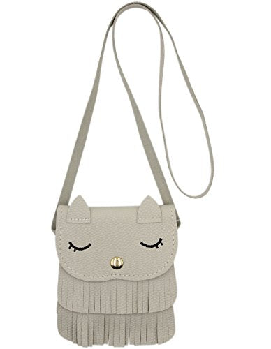 Cat Tassel Shoulder PU leather Cross-body Purse