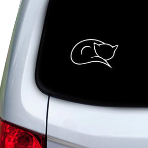 Sleeping Cat Car Decal Sticker, Super easy to apply