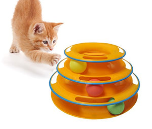 Interactive Exerciser Orange Cat Ball Toy
