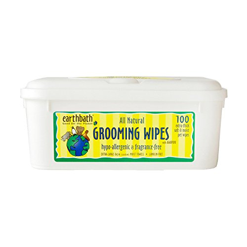Earthbath Grooming Wipes, Hypo-Allergenic and Fragrence Free