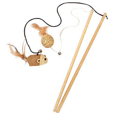 Wood 2 Cat Wands with Bell