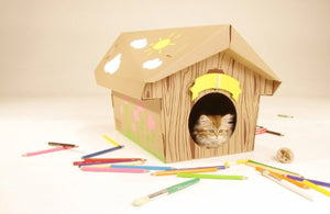 Canadian Cabin Style House for Cats