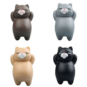 4 Sets Fat Cats Refrigerator Soft Kitchen Magnets