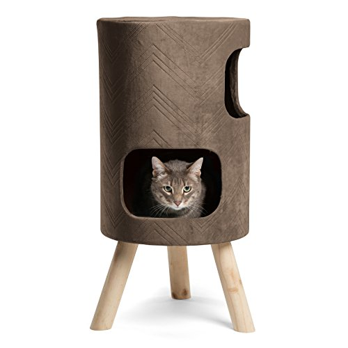 Multi-leveled Handcrafted Modern Cat Tower