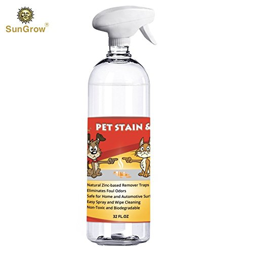 Natural Zinc-Based Pet Stain & Odor Remover Spray