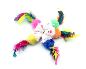 Colorful Mandmade Fur Mice