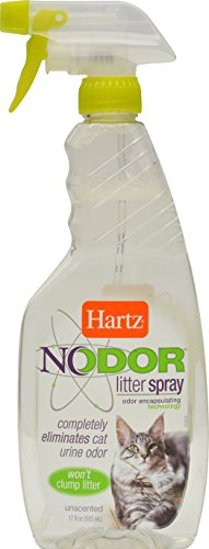 Nodor Unscented Odor Eliminating Cat Litter Spray, Hartz