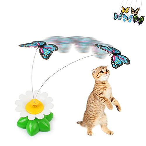 Rotating Butterfly Steel Wire Cat Toy